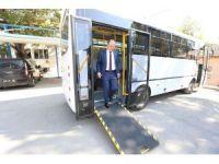 Başkan Gürlesin'den engellilere otobüs desteği
