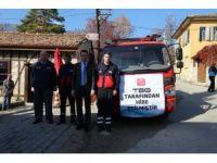 Safranbolu'nun dar sokakları için mini itfaiye aracı hizmete alındı