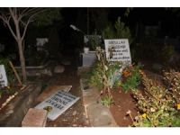 Sözde şehitlikte mezar taşları değiştirildi
