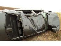 Mardin'de otomobil takla attı: 1 yaralı