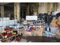 Fatih'te 10 ton metil alkol ve 120 bin şişe sahte içki ele geçirildi