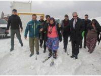 'Yün Bebek' filminin yönetmeni Ümmiye Koçak'ın kayak heyecanı