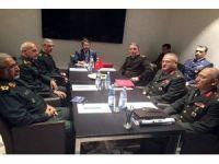 Genelkurmay Başkanı Akar, Soçi'de Rusya ve İran Genelkurmay Başkanları ile bir araya geldi