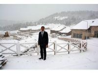 Başkan mevsimin ilk karını sosyal medyadan canlı yayınladı