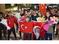 Milas Bodrum Havalimanı'nda şampiyonlara yakışır karşılama