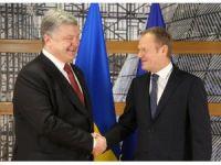 AB Konseyi Başkanı Donald Tusk, Ukrayna Devlet Başkanı Poroşenko ile görüştü