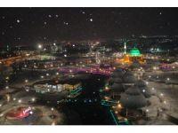 Elazığ'da karla birlikte kartpostallık görüntüler oluştu