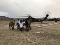 Tunceli'de hasta için askeri helikopter tahsis edildi