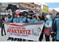 Kars'ta, ABD protesto edildi