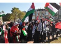 Kudüs kararı Reyhanlı'da protesto edildi