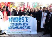 "Aksaray'da ""Kudüs"" protestosu"