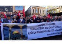 Çaycuma'da yüzlerce vatandaş  Kudüs'e destek için bir araya geldi