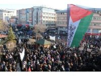 Van'da binlerce vatandaş Kudüs için yürüdü