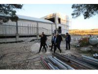Olimpik yüzme havuzları inşaatında çalışmalar son sürat