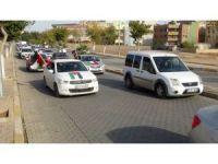 Şanlıurfa'da yüzlerce araçlık konvoyla ABD ve İsrail protestosu