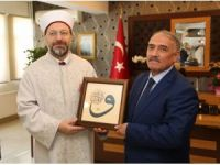 Diyanet İşleri Başkanı Prof. Dr. Erbaş, Niğde Belediye Başkanı Özkan'ı ziyaret etti