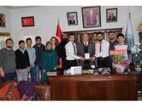 Başkan Özkan'a teşekkür plaketi