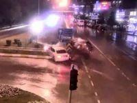 Tokat'ta kavşaklarda meydana gelen kazalar MOBESE'ye yansıdı