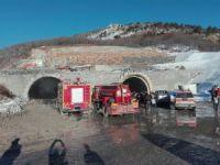 Tünel inşaatında yangın