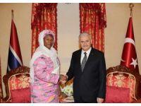 Başbakan Yıldırım, Gambiya Cumhurbaşkanı Yardımcısı ile bir araya geldi