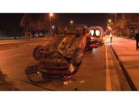 Maltepe'de kaza yapan kadın sürücü şoka girdi