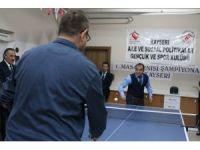 Aile ve Sosyal Politikalar İl Müdürlüğünde Masa Tenisi Turnuvası başladı