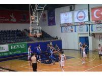 Basketbolda kızlardan farkla galibiyet