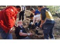 Çıntar toplarken düşen kişi UMKE tarafından kurtarıldı