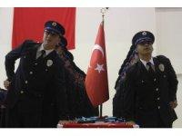 Karaman'da polis adaylarının mezuniyet sevinci