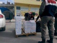 Tosya İlçe Jandarma Komutanlığı 2 bin 750 kaçak sigara yakaladı