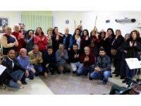 Türk Halk Müziği korosu konser hazırlığında