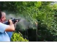 Tüfekle ateş ederek ağacı kopartan kişi hakkında yasal işlem başlatıldı