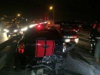 15 Temmuz Şehitler Köprüsü'nde zincirleme kaza; 1 yaralı