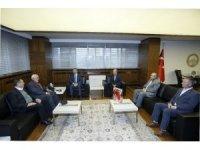 Mazlumder yöneticileri Başkan Çelik'i ziyaret etti