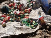 Van'daki terör operasyonunda yaşam malzemeleri bulundu