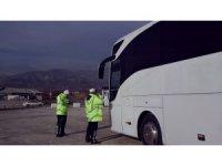 Kastamonu'da kış lastiği denetimlerinde şoförlere ceza yağdı