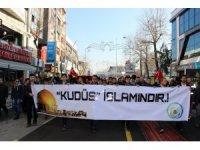 Kudüs kararını Genç İmam Hatipliler Düzce'de protesto etti
