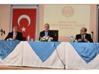 Vali Güvençer 2017 yılı son muhtarlar toplantısını Ahmetli'de yaptı