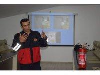 Malatya İtfaiyesi'den yangın tatbikatı