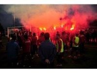 Taraftarlardan Samsunspor'a meşaleli destek