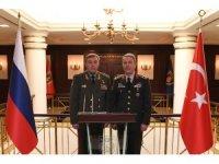 Genelkurmay Başkanı Akar, Rusya Genelkurmay Başkanı Gerasimov ile bir araya geldi