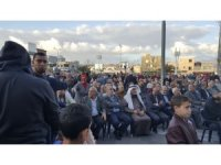 İsrali'in Sahnin kentinde Trump protesto edildi