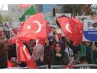 Cizre'de 'Kudüs'e Özgürlük, İnsanlığa Barış' mitingi