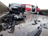 Uzunköprü'de trafik kazası: 2 yaralı