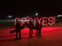 Erciyes Kayak Merkezi'nde gece kayağına büyük ilgi