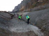 Ali Kaya deresinin beton kısımlarında onarım çalışması yapıldı