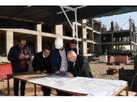 Rektör Gönüllü inşaatları inceledi