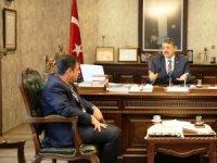 Ahat Deliorman'dan Başkan'a ziyaret