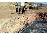 Musabeyli ilçesinde lise ile öğrenci pansiyonu yapımı devam ediyor