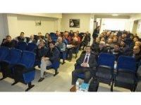 Burhaniye'de çiftçilere basınçlı sulama destekleri anlatıldı
